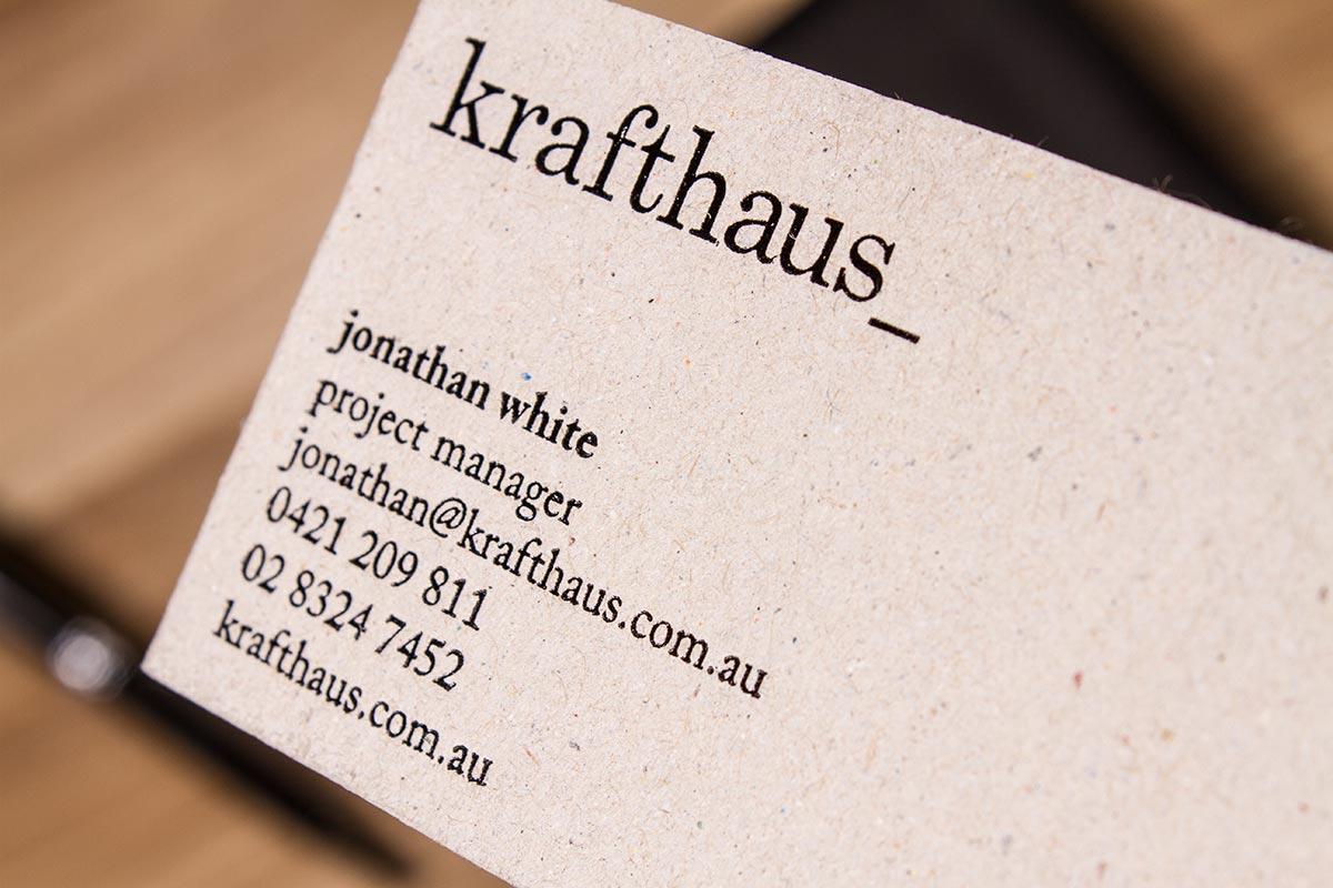 Luxury Printing   Brown Kraft Business Cards